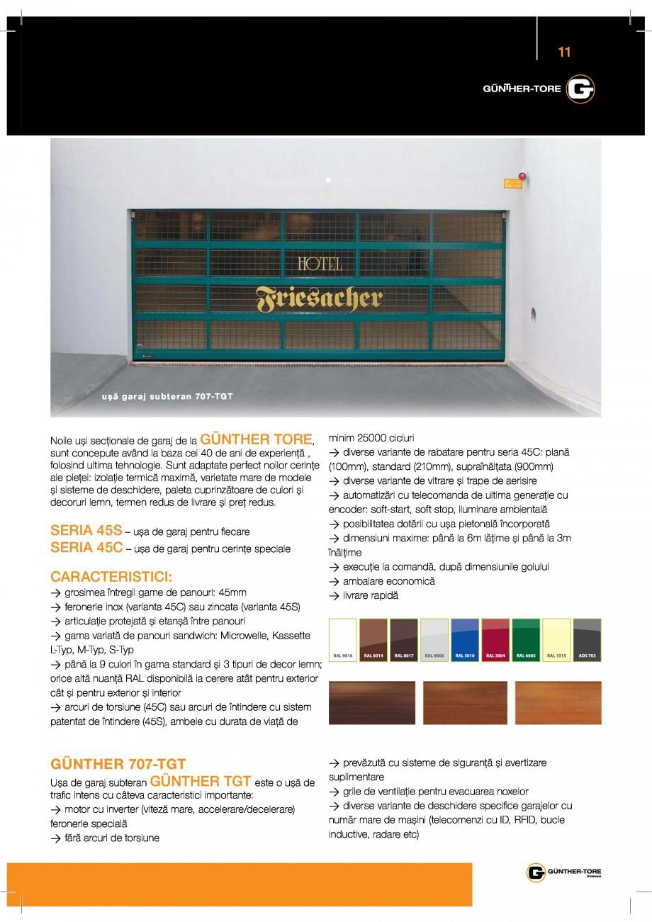 Pagina 11 - Porti industriale sectionale GUNTHER-TORE Catalog, brosura Romana  ~a®\9  *   / ...