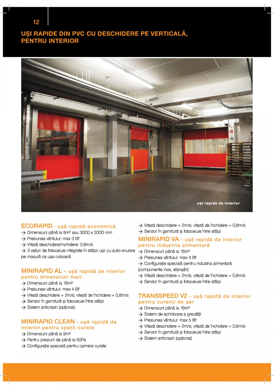 Pagina 12 - Porti industriale sectionale GUNTHER-TORE Catalog, brosura Romana  %