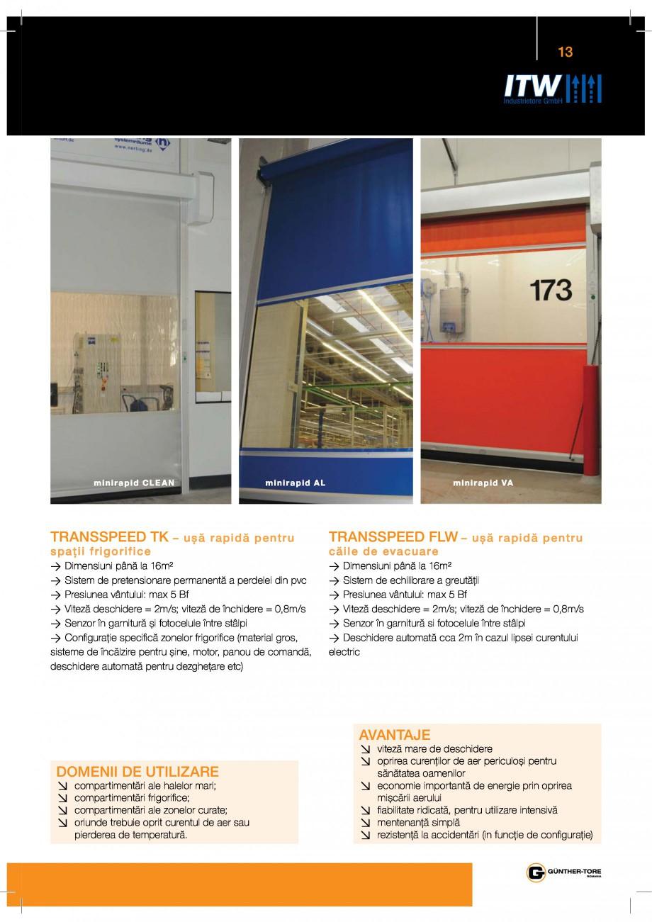 Pagina 13 - Porti industriale sectionale GUNTHER-TORE Catalog, brosura Romana
