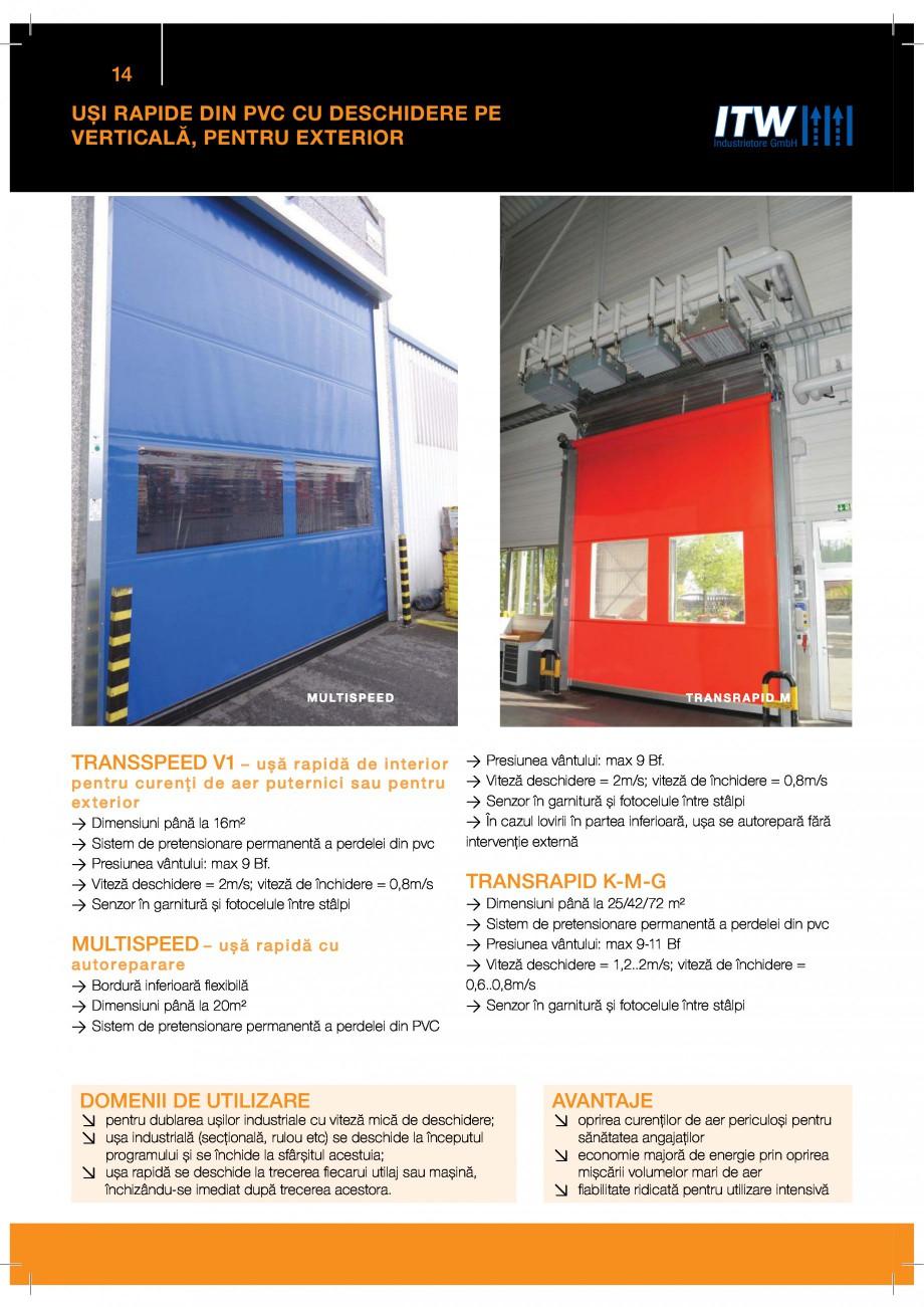 Pagina 14 - Porti industriale sectionale GUNTHER-TORE Catalog, brosura Romana $$ 2* %  $ 2 %  9...