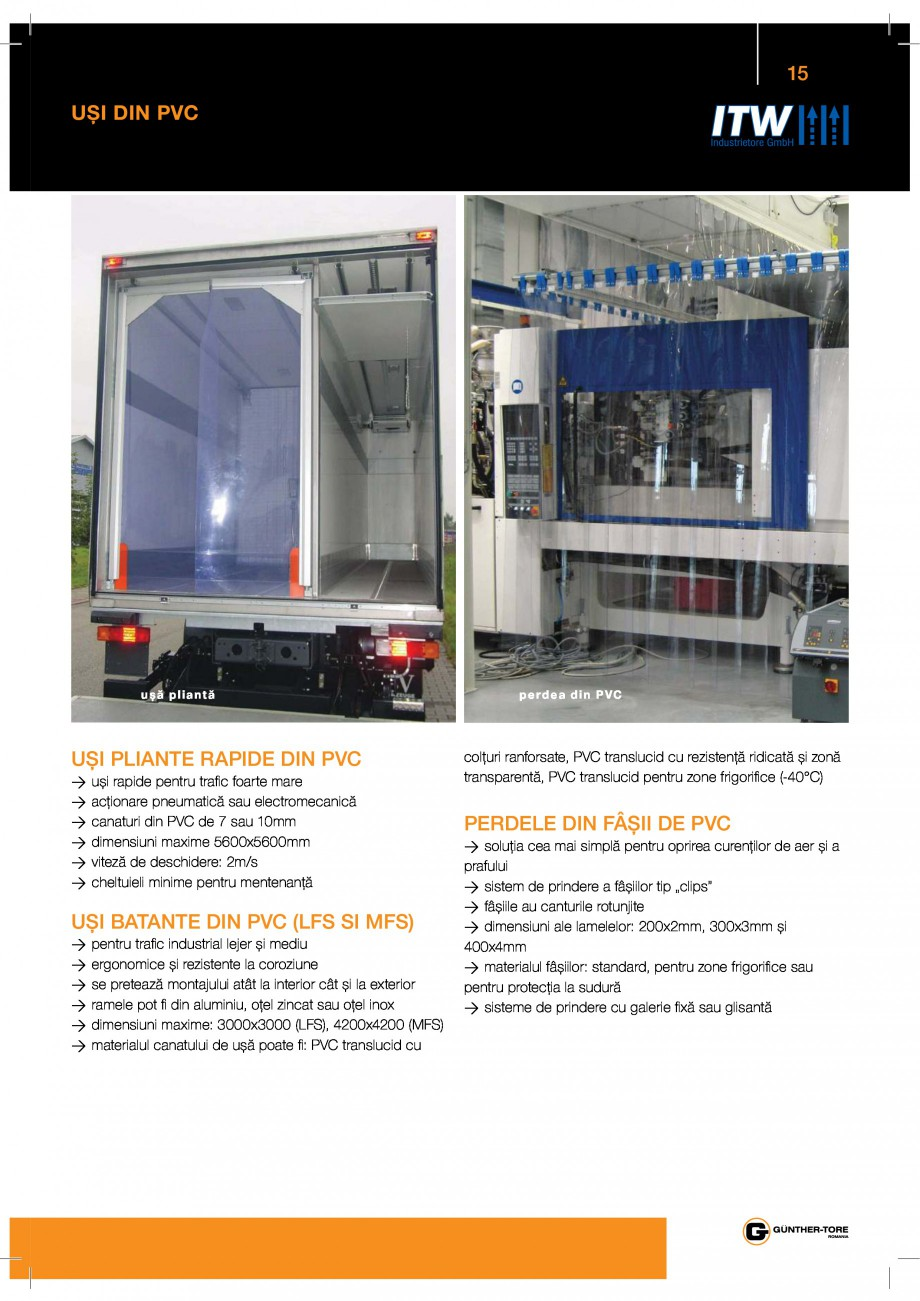 Pagina 15 - Porti industriale sectionale GUNTHER-TORE Catalog, brosura Romana