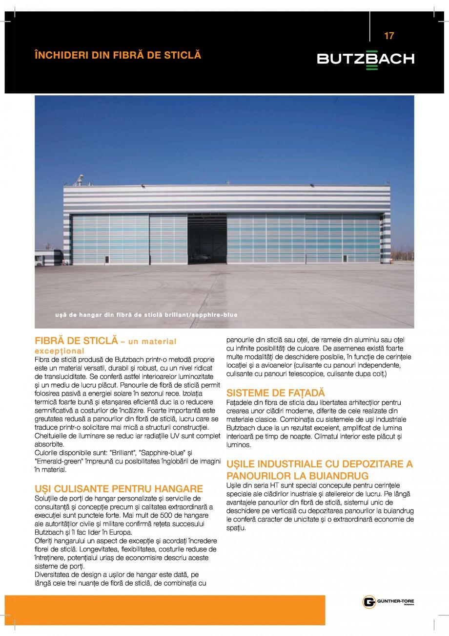 Pagina 17 - Porti industriale sectionale GUNTHER-TORE Catalog, brosura Romana   %