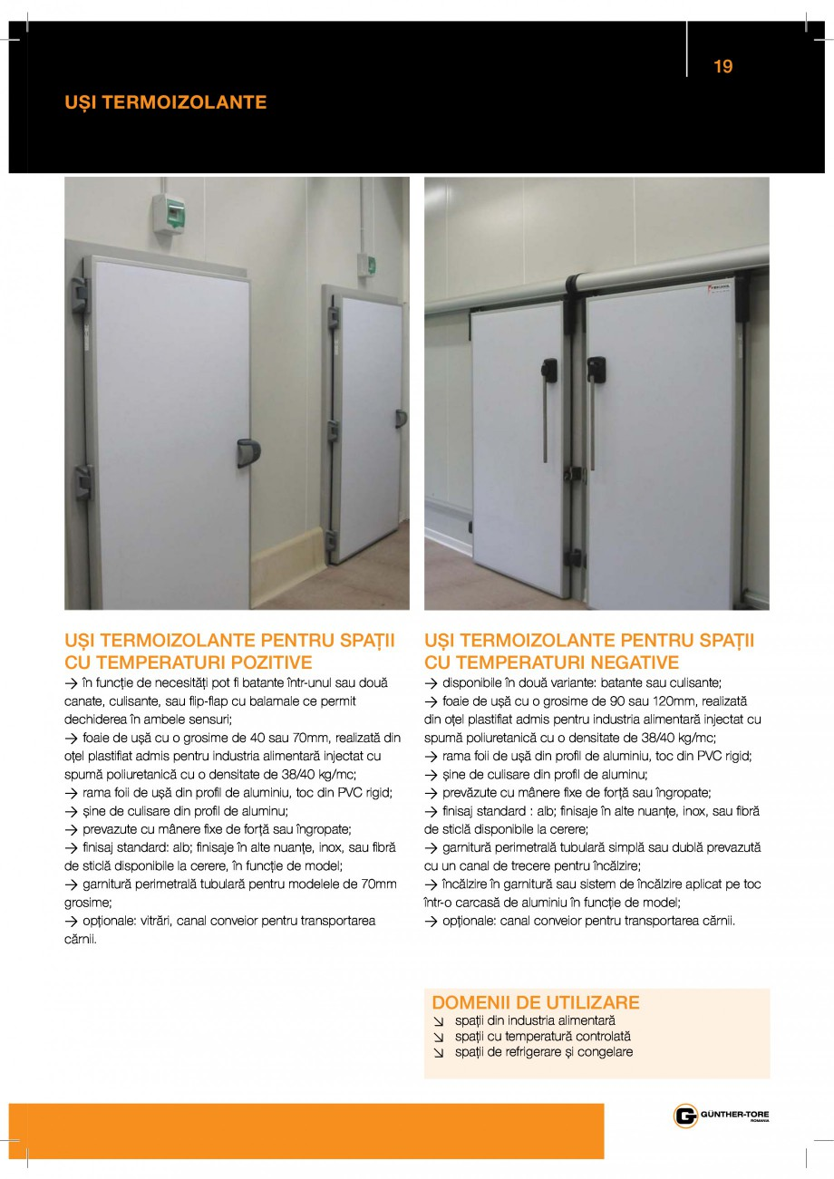 "Pagina 19 - Porti industriale sectionale GUNTHER-TORE Catalog, brosura Romana  / ry & ""9ƒy ut..."