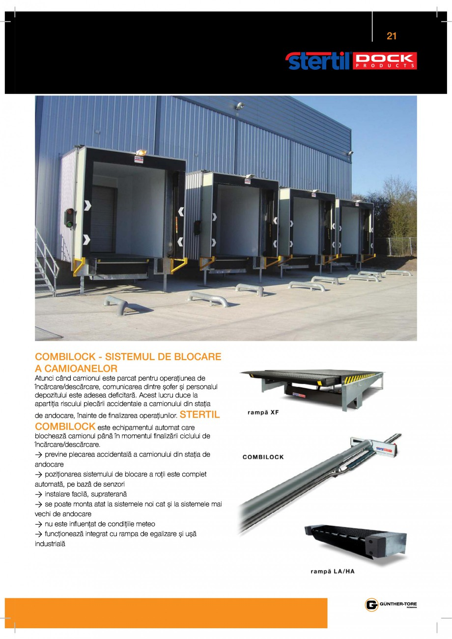 Pagina 21 - Porti industriale sectionale GUNTHER-TORE Catalog, brosura Romana  %     %  !