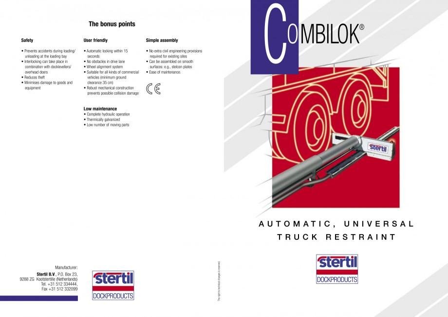 Pagina 1 - Sistem automat de retinere a camionului STERTIL Combilock Fisa tehnica Engleza The bonus ...