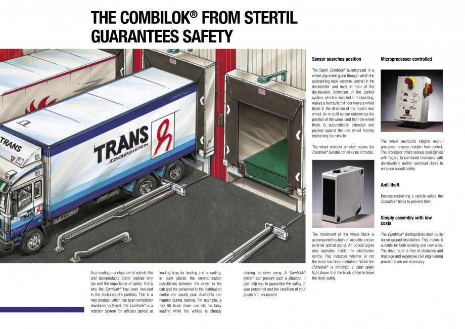 Pagina 2 - Sistem automat de retinere a camionului STERTIL Combilock Fisa tehnica Engleza 332099 ...