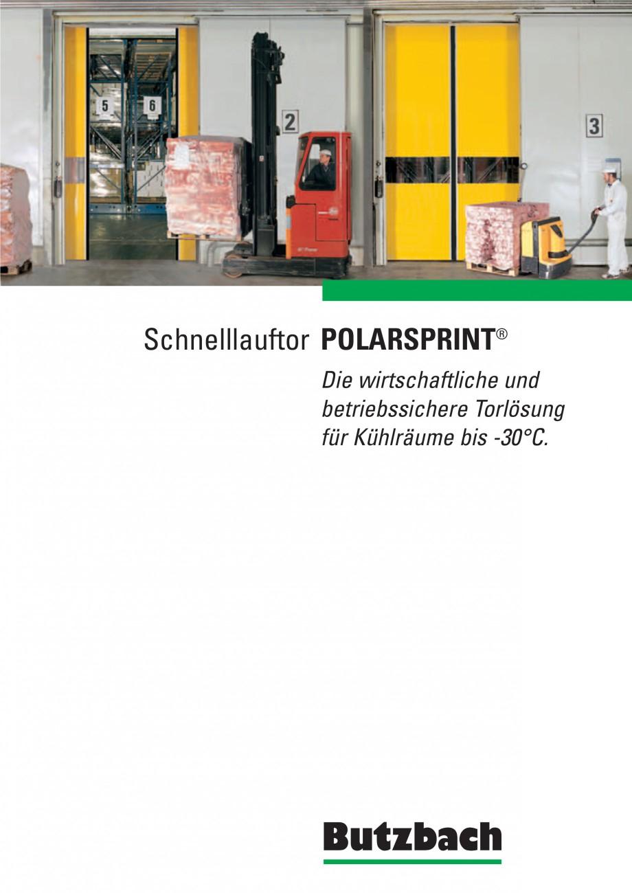 Pagina 1 - Porti industriale rapide BUTZBACH POLARSPRINT Catalog, brosura Germana Schnelllauftor...