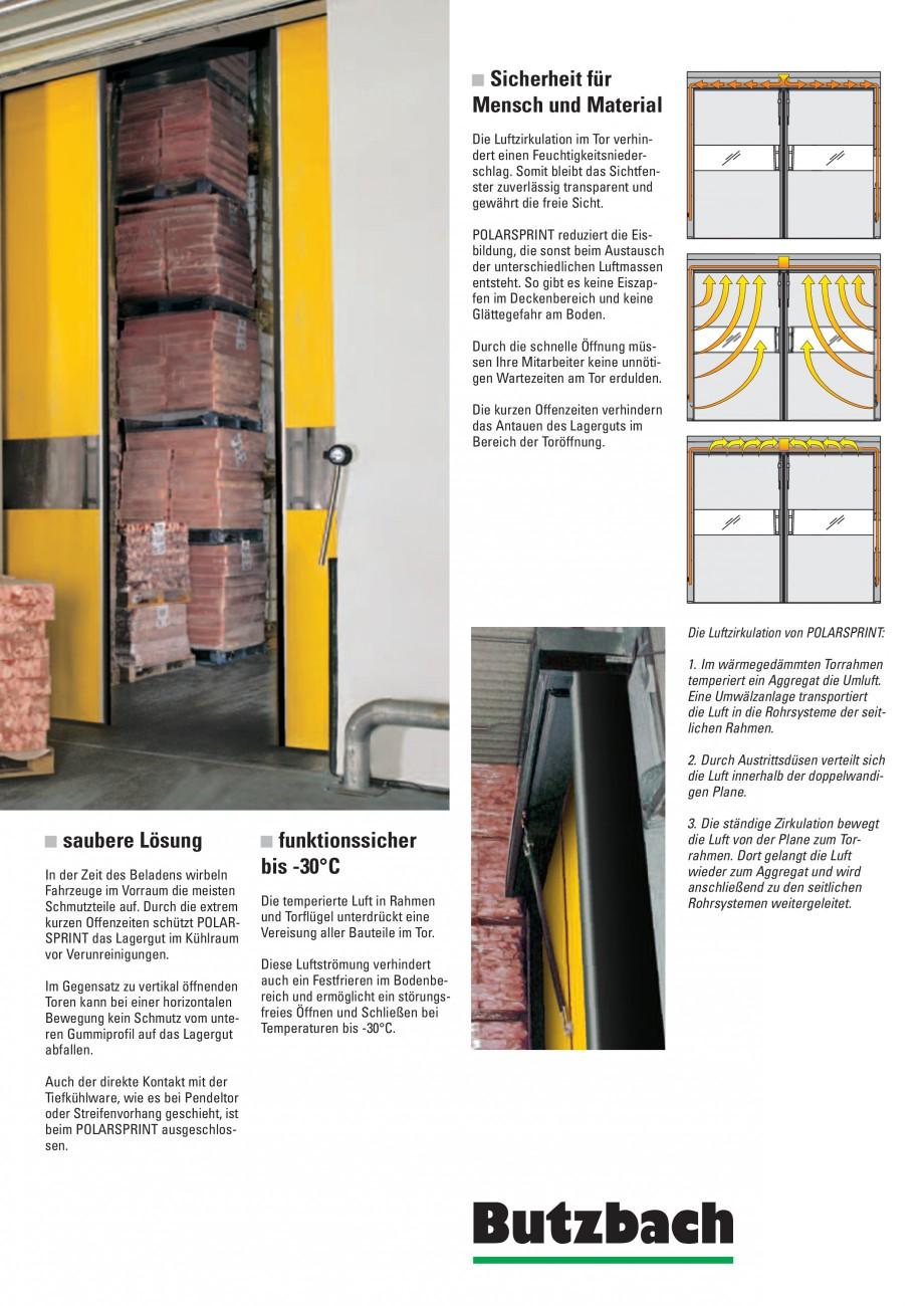 Pagina 3 - Porti industriale rapide BUTZBACH POLARSPRINT Catalog, brosura Germana agergut im...
