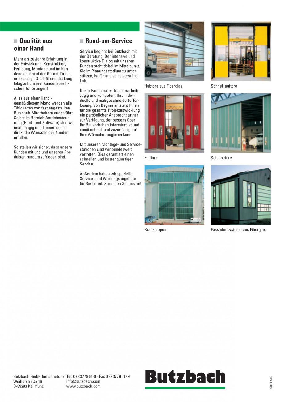 Pagina 4 - Porti industriale rapide BUTZBACH POLARSPRINT Catalog, brosura Germana unserer...