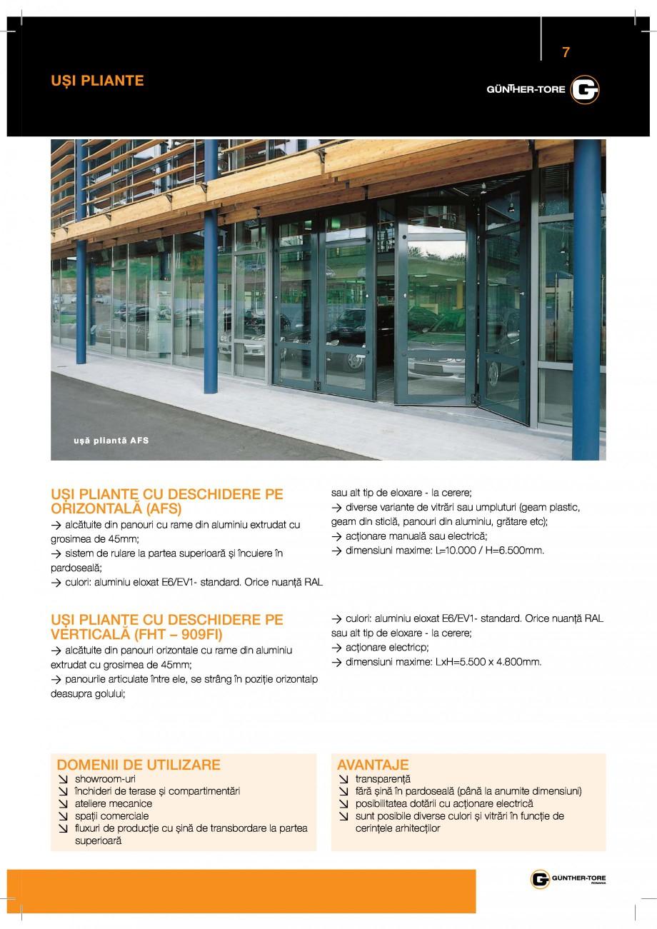 Pagina 7 - Catalog produse GUNTHER TORE  BUTZBACH NOVOSPRINT Catalog, brosura Romana  9...