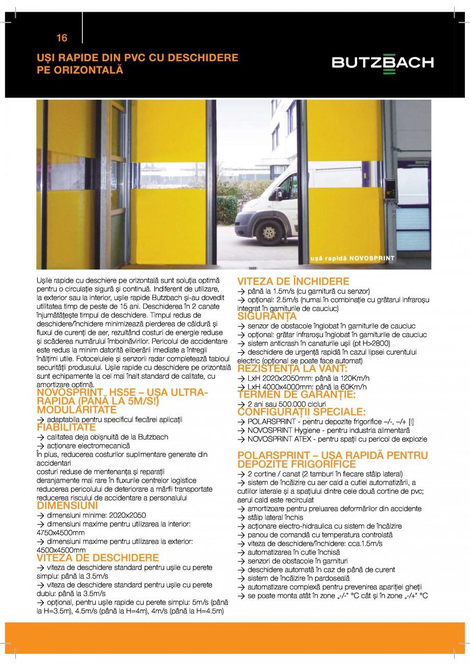 Pagina 16 - Catalog produse GUNTHER TORE  BUTZBACH NOVOSPRINT Catalog, brosura Romana &...