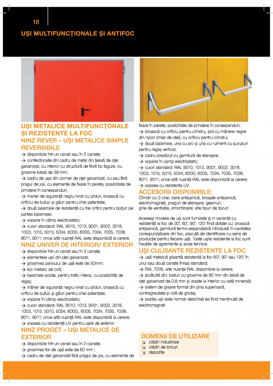 Pagina 18 - Catalog produse GUNTHER TORE  BUTZBACH NOVOSPRINT Catalog, brosura Romana w ooÆ ...
