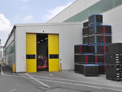 Poarta industriala rapida - galben NOVOSPRINT Porti industriale rapide