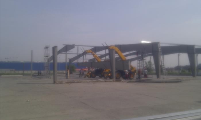Hale metalice - Heineken - relocat depozit de bere 2011 Ghemark Steel - Poza 7