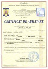 Certificat de abilitare Q TEST