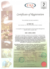 Certificat de mediu - ISO 14001:2004 Q TEST