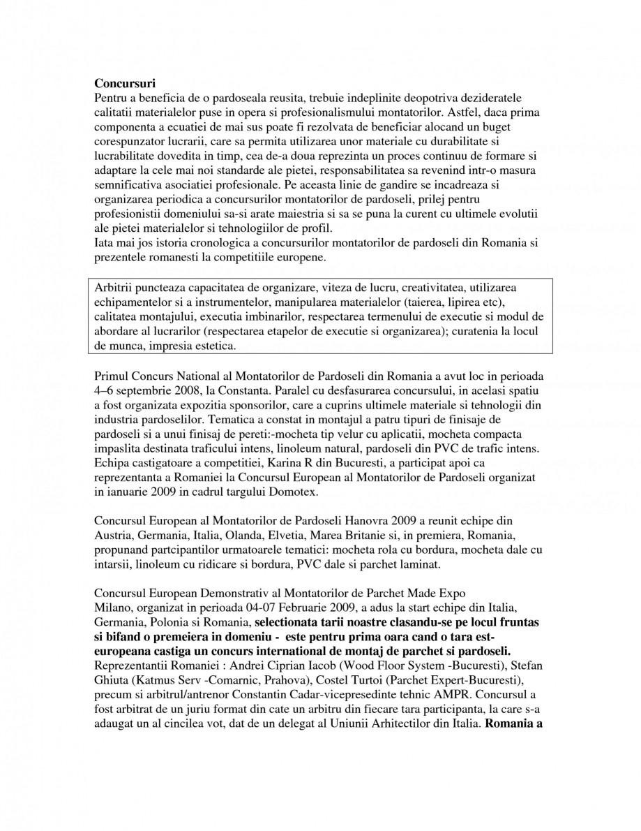 Pagina 1 - AMPR - Concursuri, organizare si participare  Catalog, brosura Romana Concursuri Pentru a...
