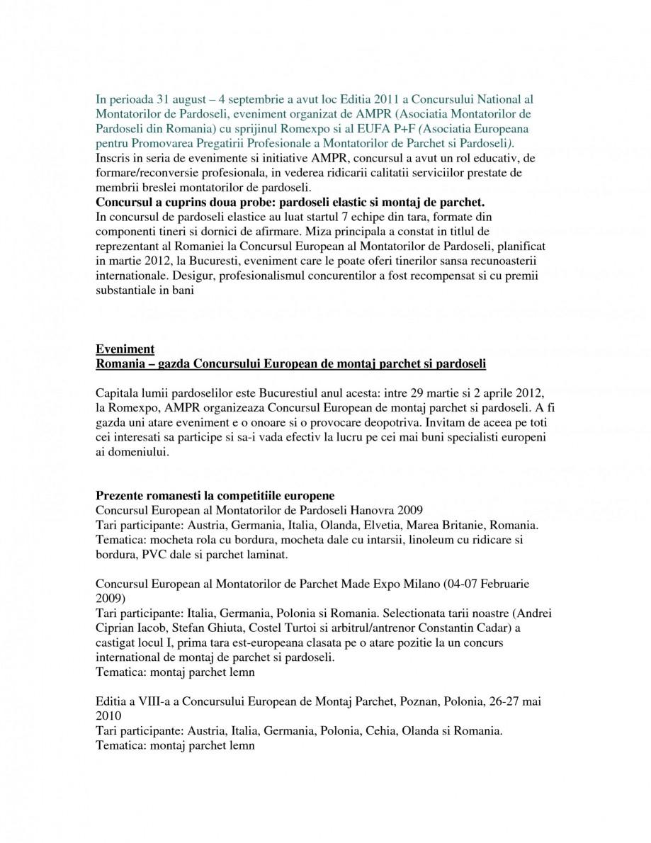 Pagina 3 - AMPR - Concursuri, organizare si participare  Catalog, brosura Romana anta a Romaniei la ...