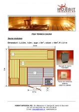 Sauna uscata HOBBIT CONCEPT RO
