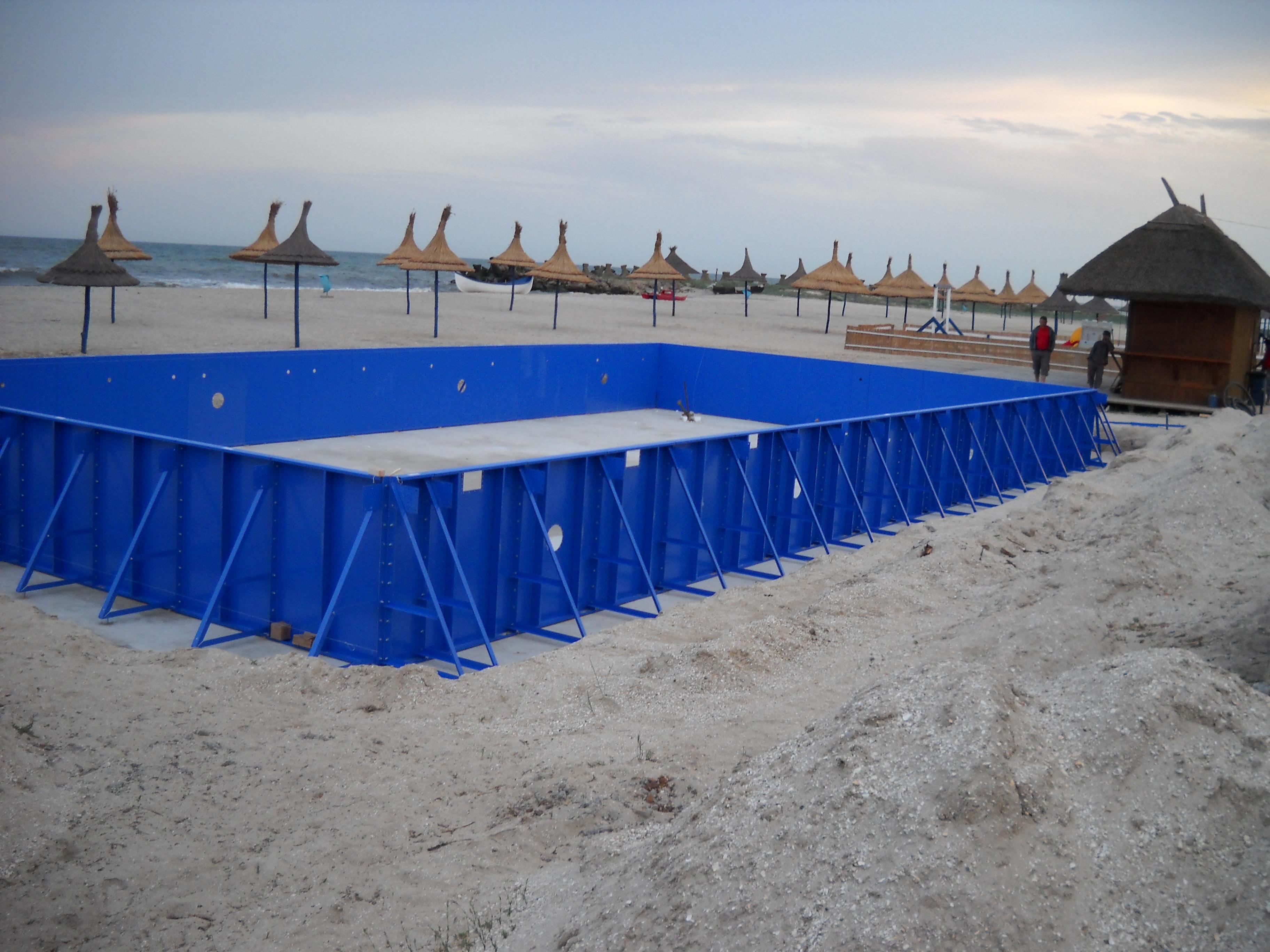 Faze de montaj piscine rezidentiale din panouri modulare de otel galvanizat ASTRAL POOL - Poza 5