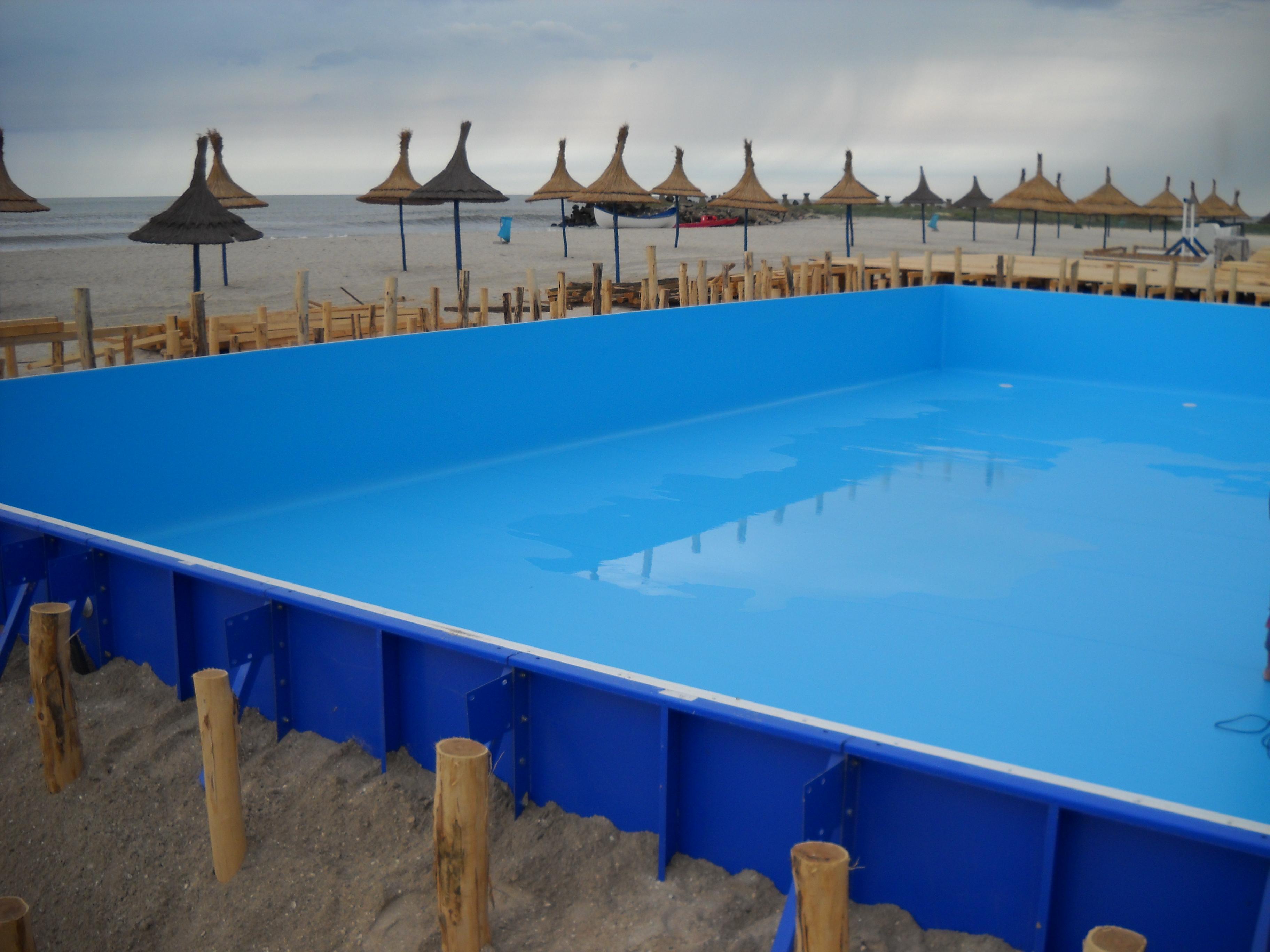 Faze de montaj piscine rezidentiale din panouri modulare de otel galvanizat ASTRAL POOL - Poza 6