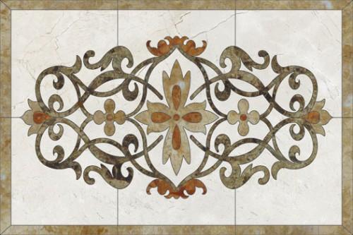 Lucrari, proiecte Medalioane decorative pentru pardoseli - Modele Florale SIDORA - Poza 3