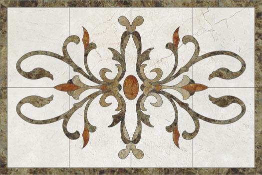 Medalioane decorative pentru pardoseli - Modele Florale SIDORA - Poza 4