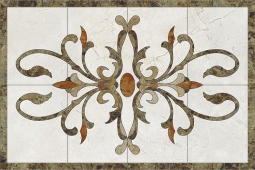 Lucrari, proiecte Medalioane decorative pentru pardoseli - Modele Florale SIDORA - Poza 4