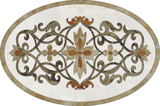 Medalioane decorative pentru pardoseli - Modele Florale SIDORA - Poza 5