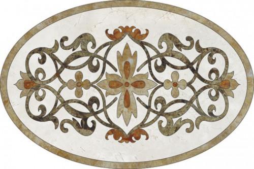 Lucrari, proiecte Medalioane decorative pentru pardoseli - Modele Florale SIDORA - Poza 5