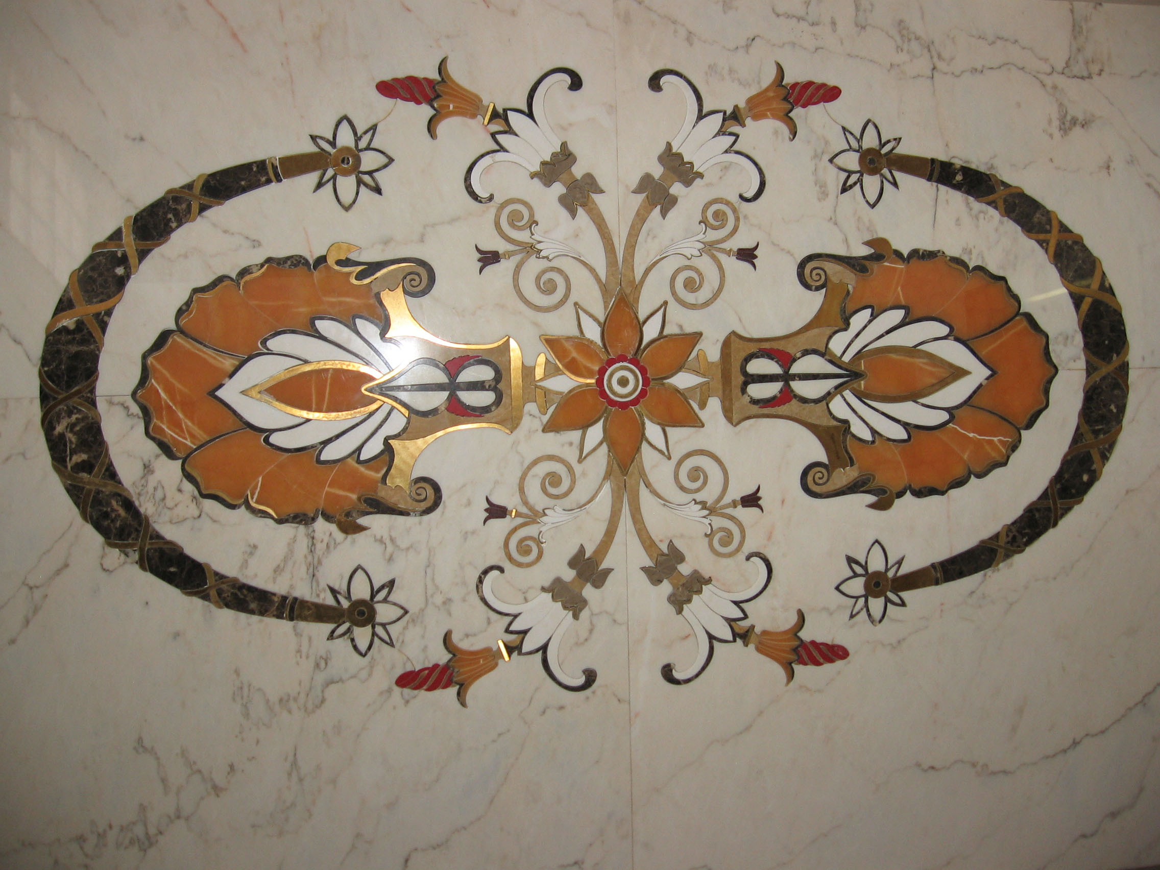 Medalioane decorative pentru pardoseli - Modele Florale SIDORA - Poza 7