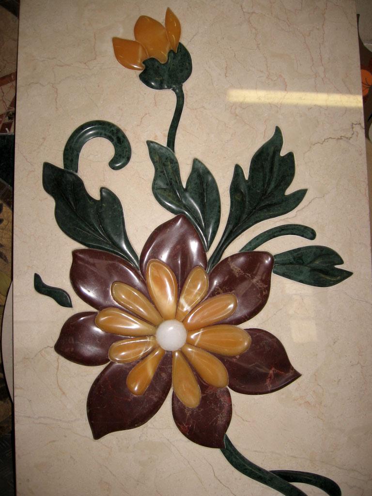 Medalioane decorative pentru pardoseli - Modele Florale SIDORA - Poza 8