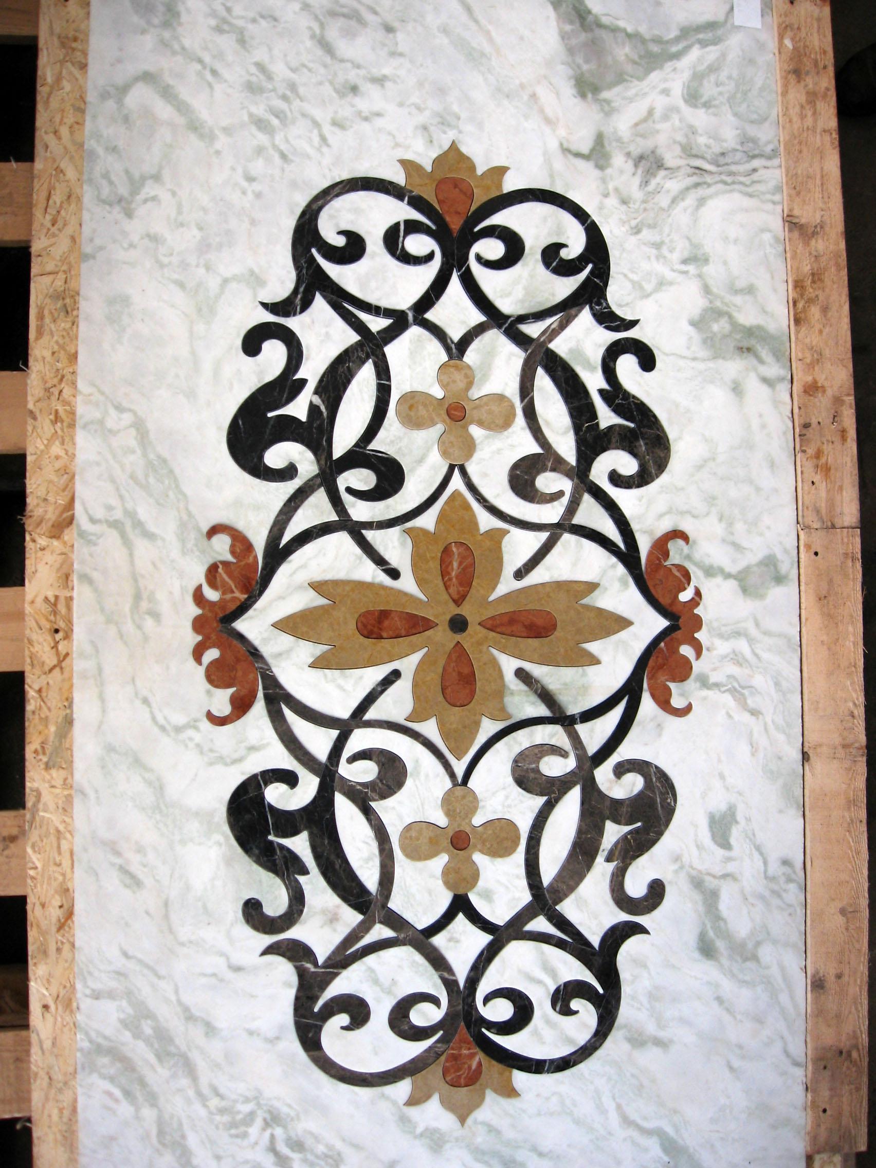 Medalioane decorative pentru pardoseli - Modele Florale SIDORA - Poza 9