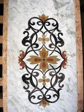 Lucrari, proiecte Medalioane decorative pentru pardoseli - Modele Florale SIDORA - Poza 9