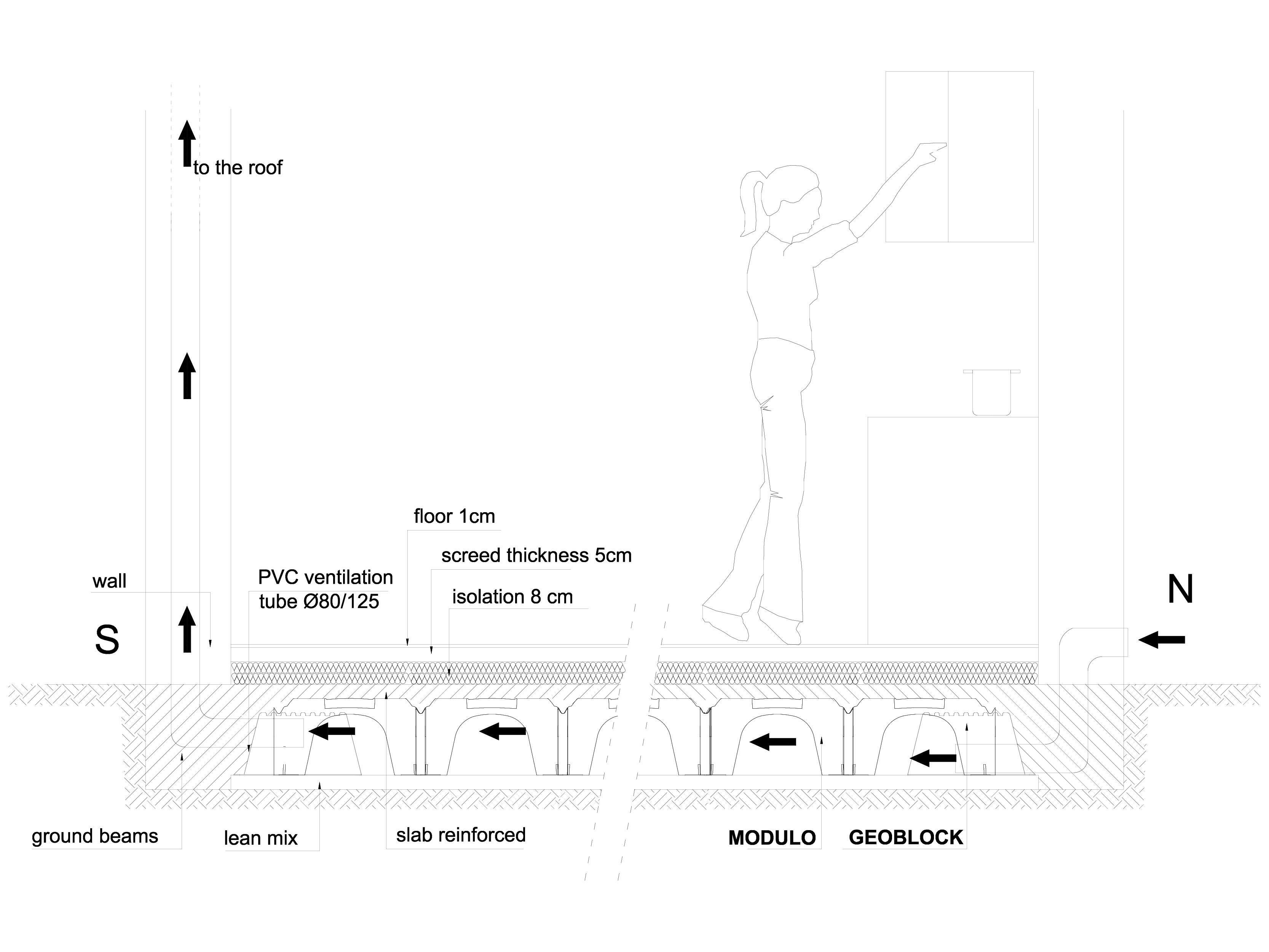 Pagina 1 - CAD-DWG Cofraje pierdute pentru realizarea pardoselilor ventilate - residential GEOPLAST ...