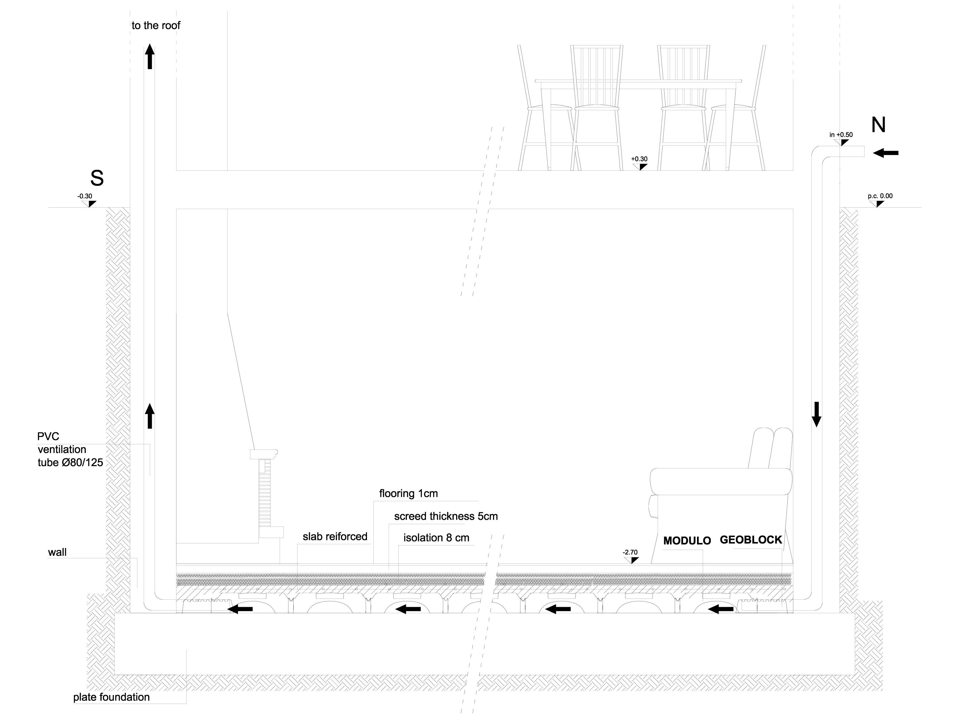 Pagina 1 - CAD-DWG Cofraje pierdute pentru realizarea pardoselilor ventilate - residential basements...