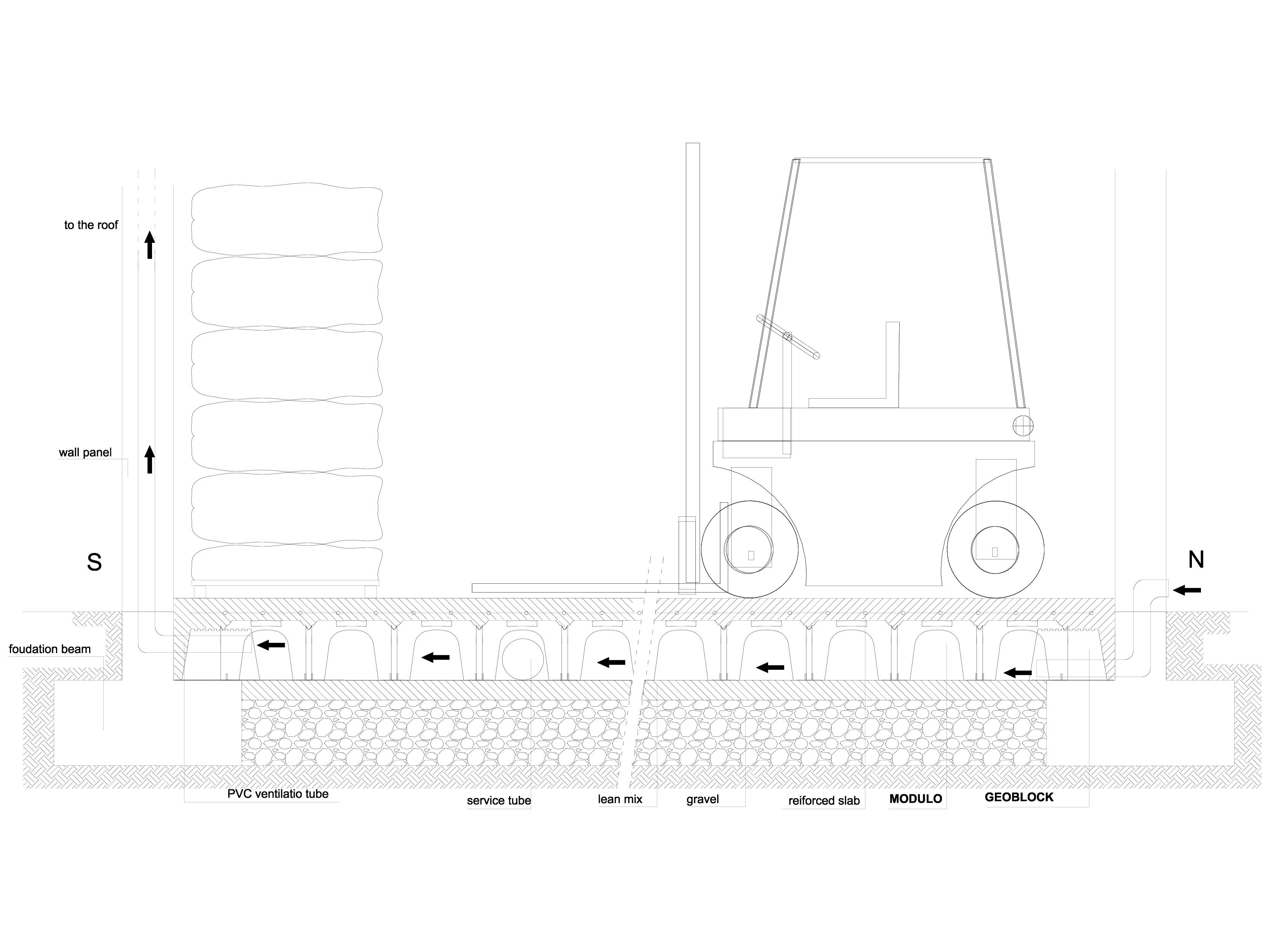 Pagina 1 - CAD-DWG Cofraje pierdute pentru realizarea pardoselilor ventilate -  industrial logistics...