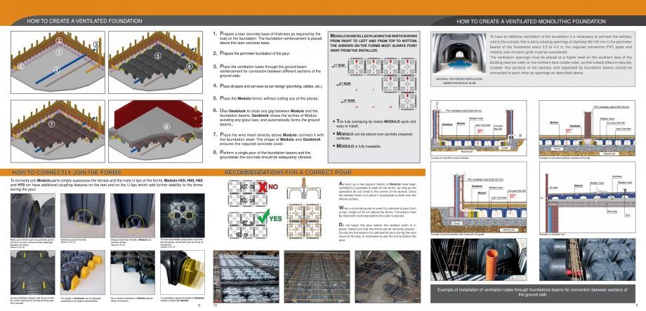 Pagina 6 - Cofraje pierdute pentru realizarea pardoselilor ventilate monolit GEOPLAST MODULO ®...