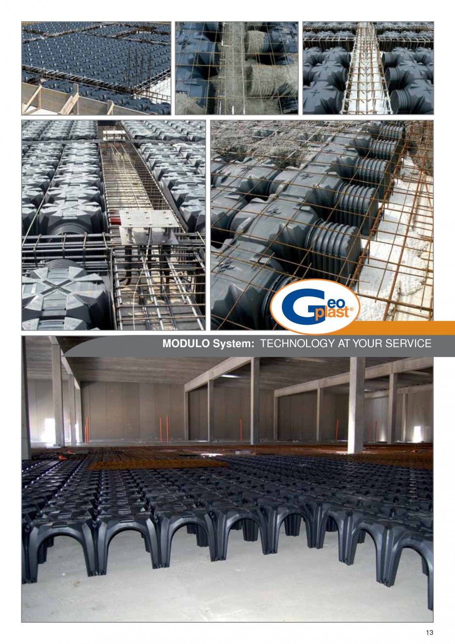 Pagina 9 - Cofraje pierdute pentru realizarea pardoselilor ventilate monolit GEOPLAST MODULO ®...