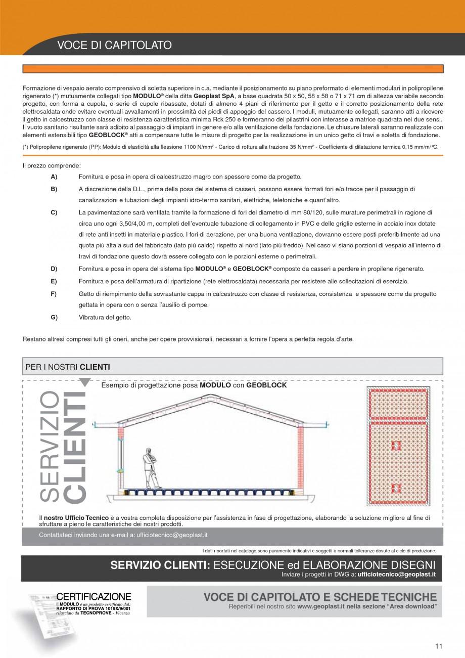 Pagina 7 - Cofraje pierdute pentru realizarea pardoselilor ventilate monolit GEOPLAST MODULO ®...