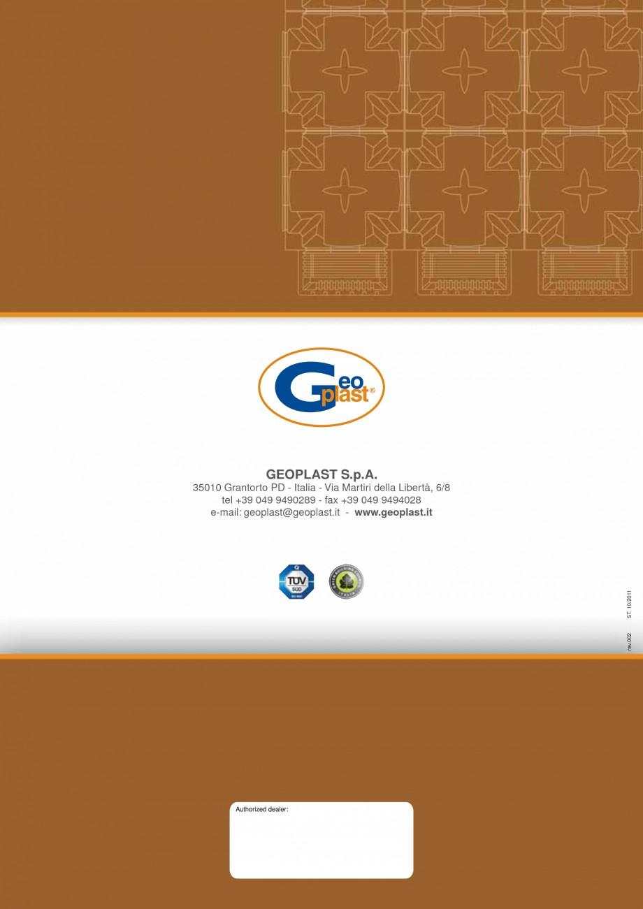 Pagina 10 - Cofraje pierdute pentru realizarea pardoselilor ventilate monolit GEOPLAST MODULO ® ...