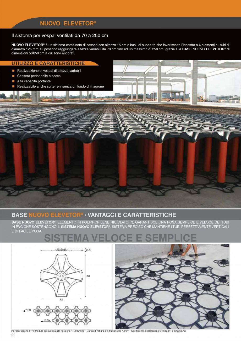 Pagina 2 - Sistem de cofraje pierdute pentru pardoseli ventilate GEOPLAST NEW ELEVETOR ® Catalog...