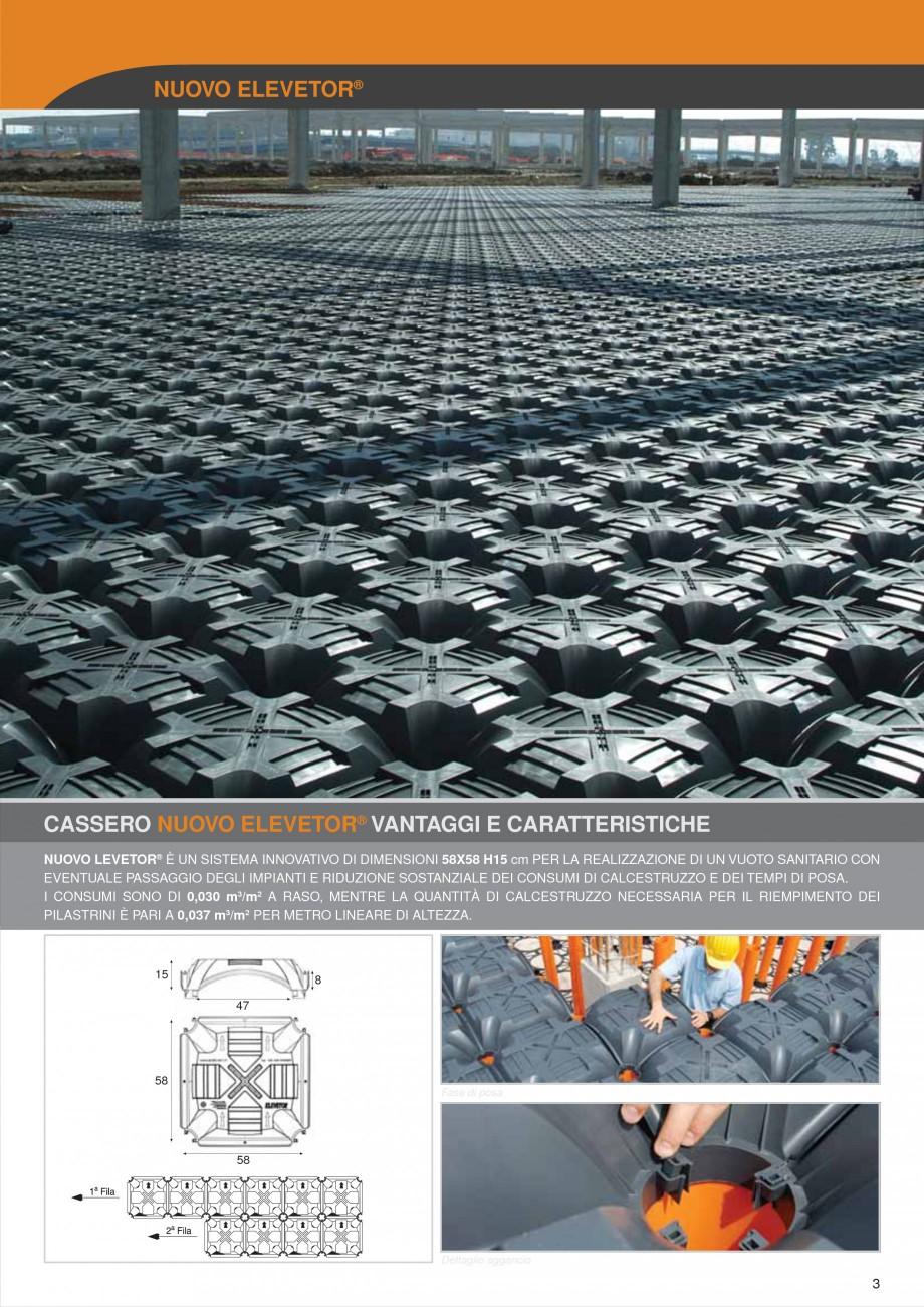 Pagina 3 - Sistem de cofraje pierdute pentru pardoseli ventilate GEOPLAST NEW ELEVETOR ® Catalog...