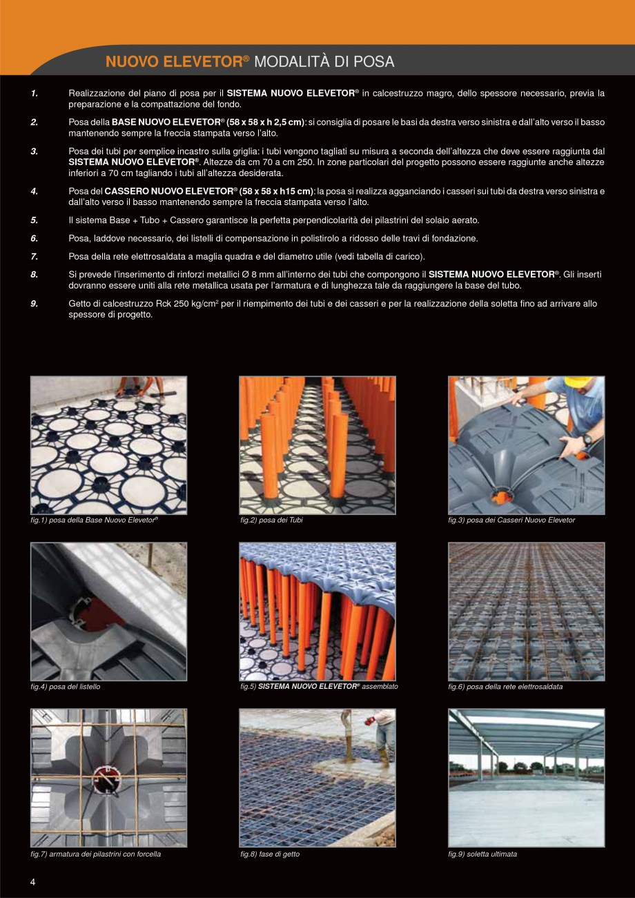 Pagina 4 - Sistem de cofraje pierdute pentru pardoseli ventilate GEOPLAST NEW ELEVETOR ® Catalog...
