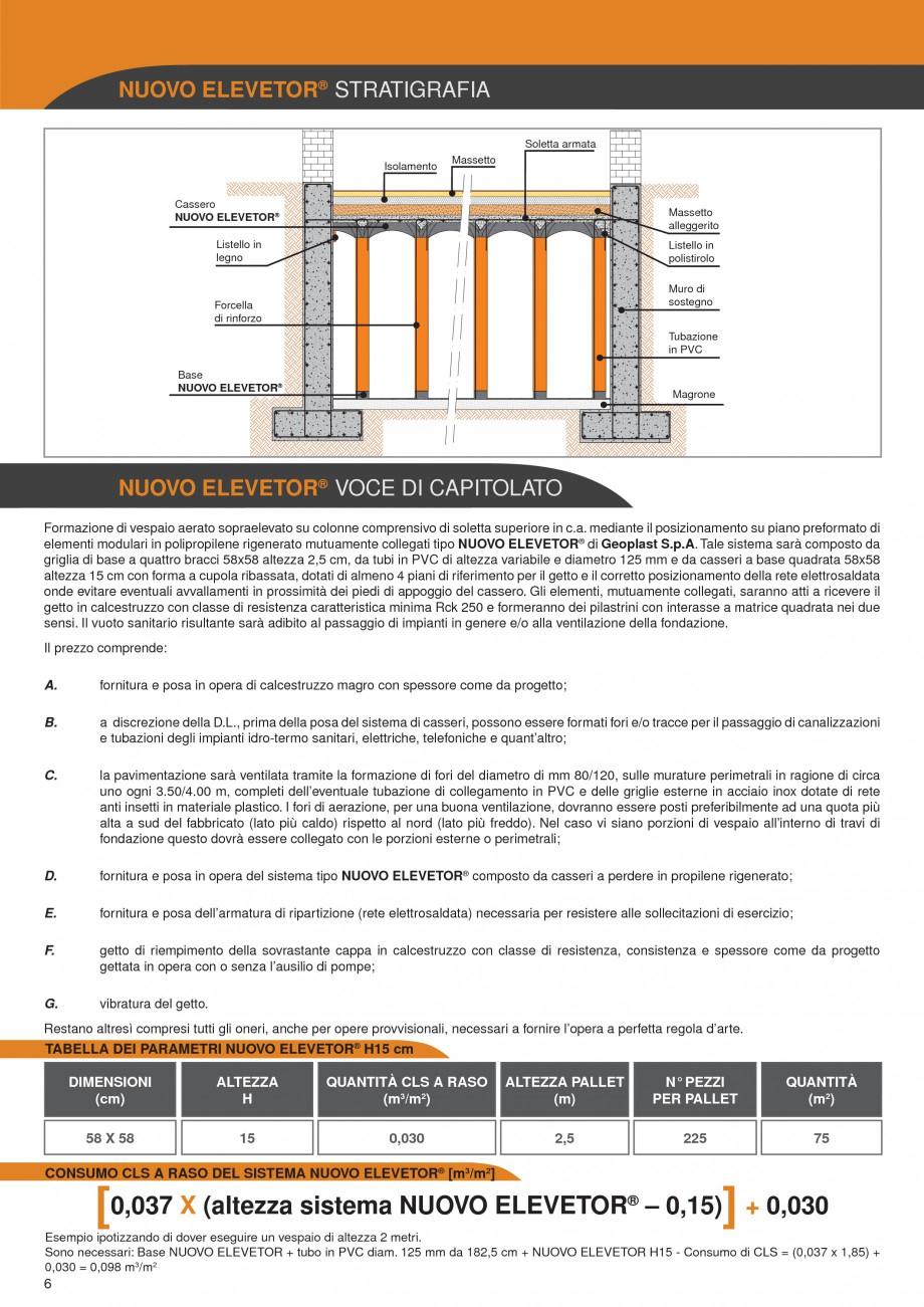 Pagina 6 - Sistem de cofraje pierdute pentru pardoseli ventilate GEOPLAST NEW ELEVETOR ® Catalog...