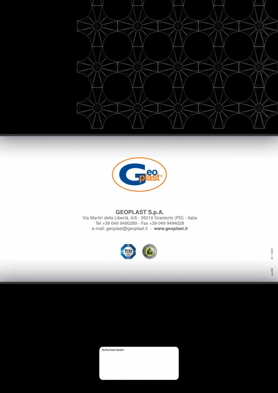 Pagina 8 - Sistem de cofraje pierdute pentru pardoseli ventilate GEOPLAST NEW ELEVETOR ® Catalog...