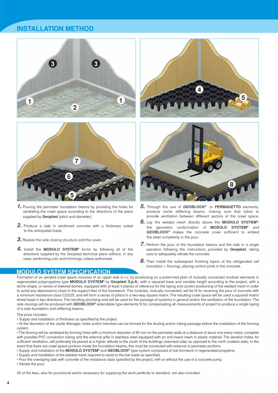 Pagina 4 - Sistem de ventilatie pentru celule frigorifice negative GEOPLAST MODULO ® FREEZE...