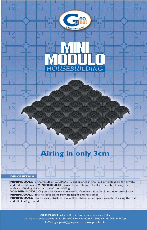 Pagina 1 - Cofraj pierdut din material plastic GEOPLAST MINIMODULO ® Catalog, brosura Engleza...