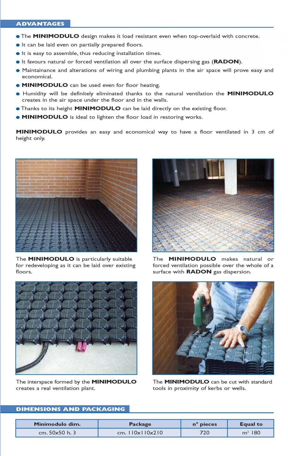 Pagina 2 - Cofraj pierdut din material plastic GEOPLAST MINIMODULO ® Catalog, brosura Engleza d ...