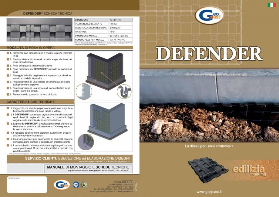 Pagina 1 - Sistem pentru protejarea peretiilor din subsoluri GEOPLAST DEFENDER ® Catalog,...